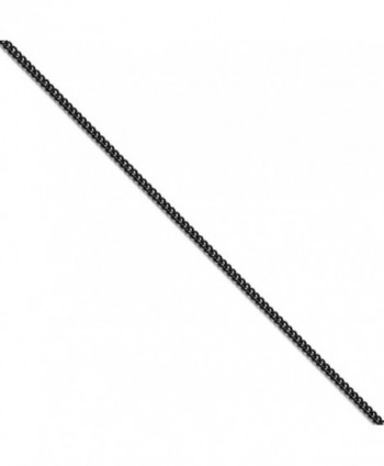 CHISEL Stainless Steel Polished Black IP-plated 2.25mm Round Curb Chain Necklace - CK12DJSMBKX