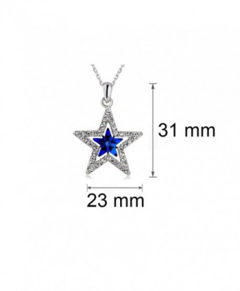 MUZHE Five point Necklace Sapphire Christmas