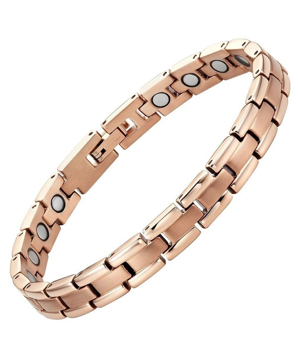 Titanium Magnetic Therapy Bracelet for Arthritis Pain Relief Adjustable with gift box by Willis Judd - CI11QHHI6ZX