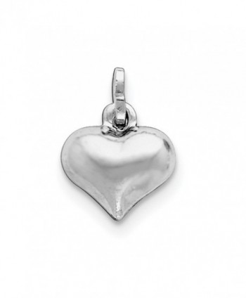 Sterling Silver Puffed Heart Charm (0.5in) - CH119CBHKEJ