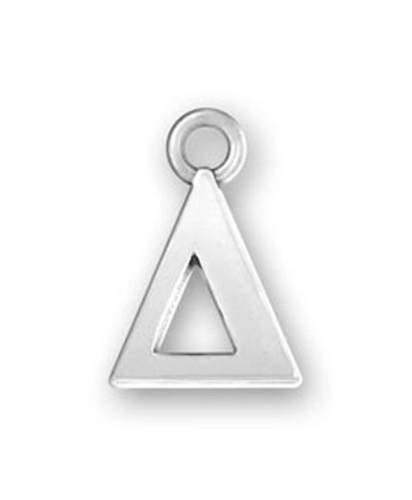 Sterling Silver Greek Alphabet Sorority Delta Charm - CD11GR8QD6V