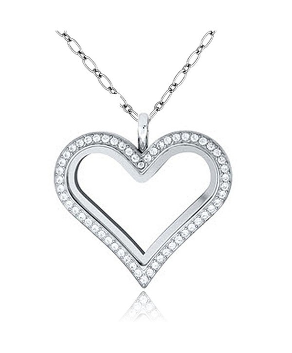 ShinyJewelry Living Memory Glass Locket Necklace Pendant For Floating Charms - CW183LSSMDT