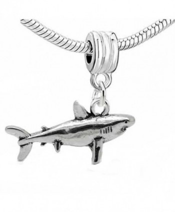 Shark 3d Dangle Charm Bead For Snake Chain Charm Bracelet - CG11I0ZKP6N
