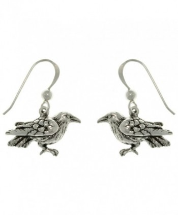 The Black Raven Sterling Silver Dark Birds of Beauty Hook Earrings - CW111MC9VXJ
