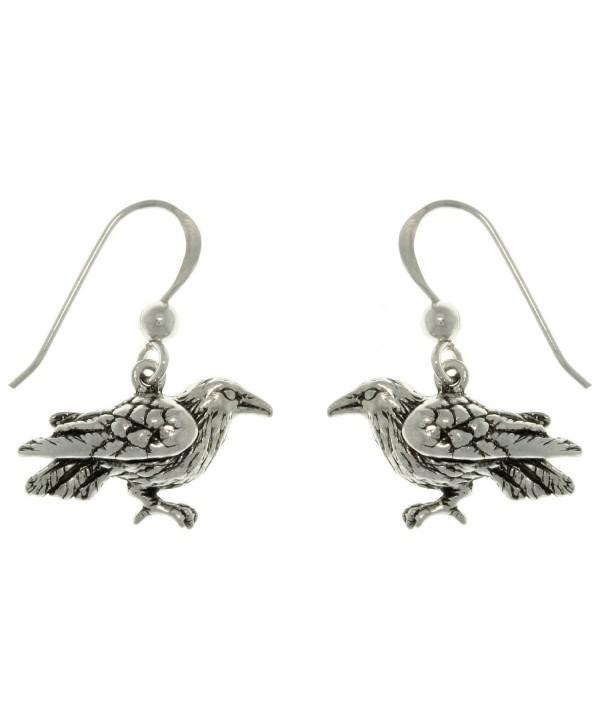 The Black Raven Sterling Silver Dark Birds of Beauty Hook Earrings - CW111MC9VXJ