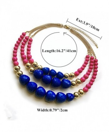 TrinketSea Statement Necklaces Colorful Beautiful in Women's Choker Necklaces