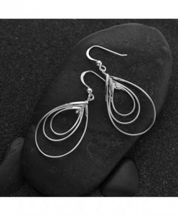 Sterling Silver Flat Dangle Earrings