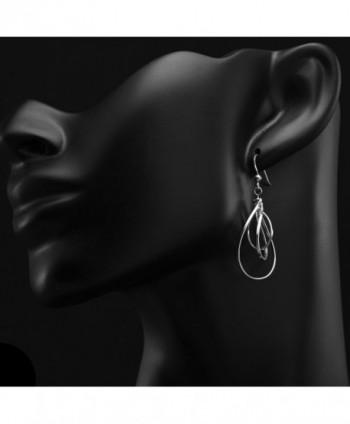 Sterling Silver Flat Dangle Earrings in Women's Drop & Dangle Earrings