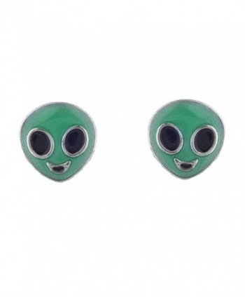 Lux Accessories Alien Galaxy Earrings