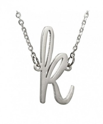 Huan Xun Gold Plated Stainless Steel Initial Pendant Necklace Best Friend Jewelry - CK11U57R13J
