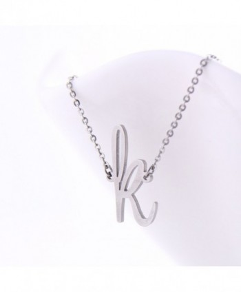 Stainless Womens Initial Pendant Necklace in Women's Chain Necklaces
