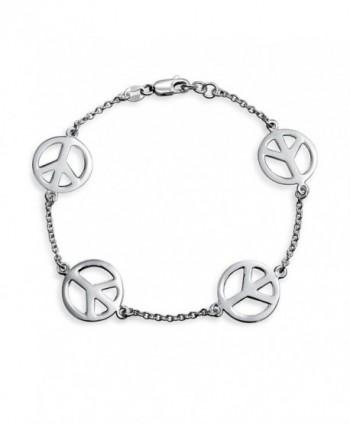 Bling Jewelry Sterling Silver Bracelet in Women's Link Bracelets