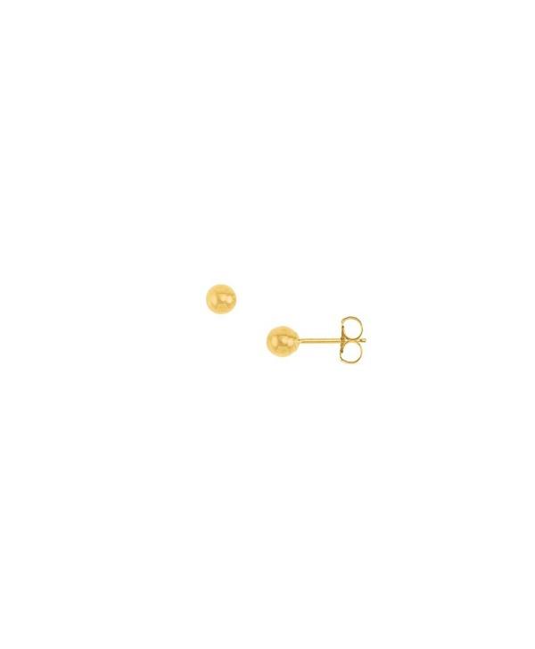 3MM Ball Stud Yellow Gold Filled Fashion Earrings - CS12NH2VIJ9