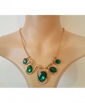 Signore Signori Emerald Austrian Statement Necklace in Women's Pendants
