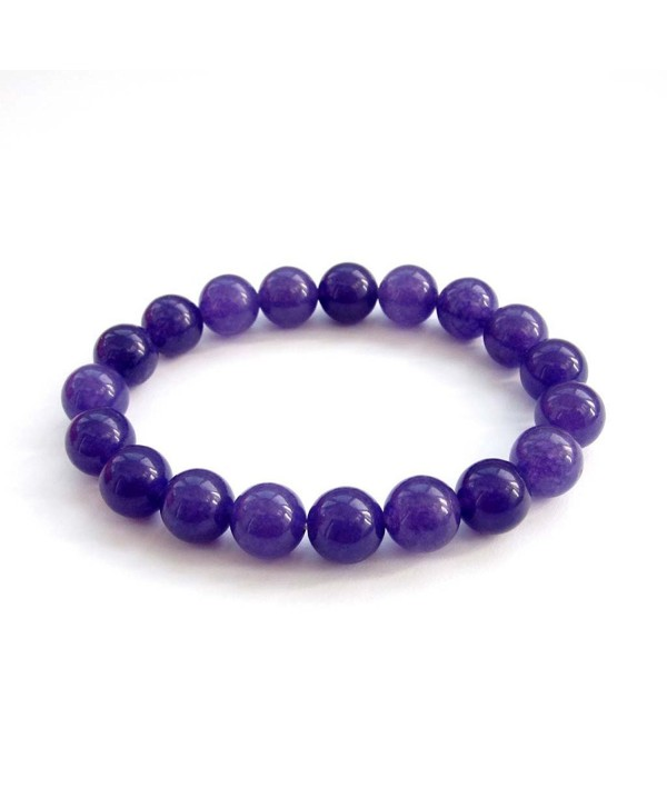 10mm Purple Stone Beads Buddhist Wrist Mala - CO117PUKT8D