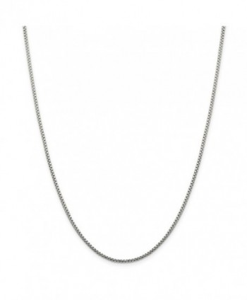 "925 Sterling Silver 1.7mm Round Diamond-Cut Fancy Box Chain Necklace 16"" - 30"" - CT11E875C8D"