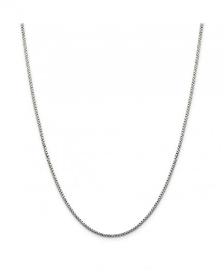 "925 Sterling Silver 1.7mm Round Diamond-Cut Fancy Box Chain Necklace 16"" - 30"" - CT11E875C8D"