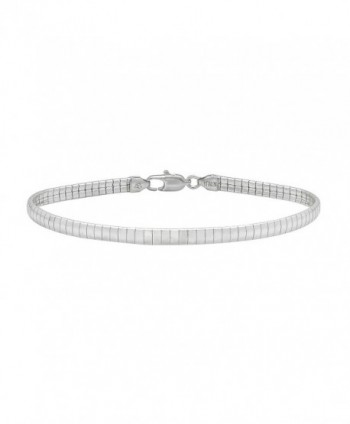 4mm 925 Sterling Silver Nickel-Free Omega Link Chain - Made in Italy + Jewelry Polishing Cloth - C412JXAUVW5