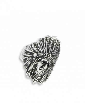 Native American Feather Headdress Stainless