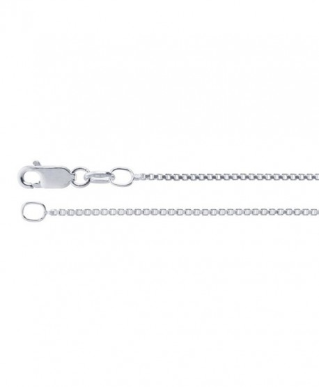 1.2mm Sterling Silver Box Chain Necklace - CM17YE42HT8