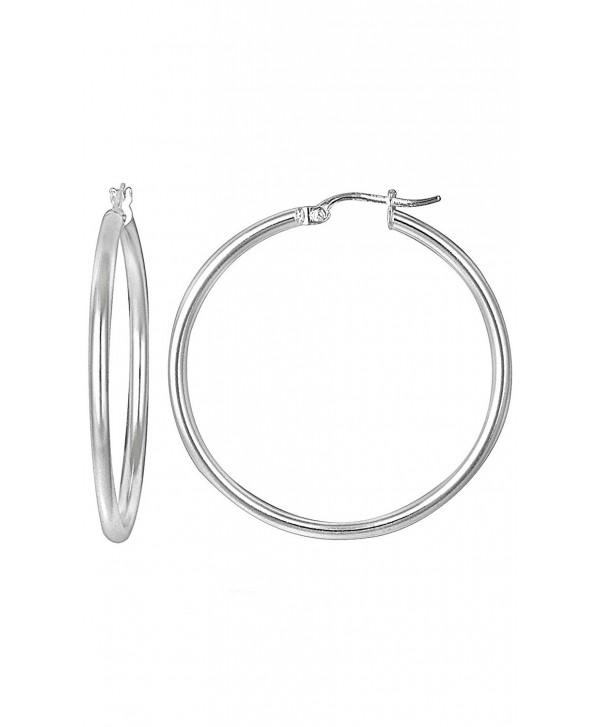 Sterling Forever - Sterling Silver 38mm Hoop Earrings - CF1874EODT0