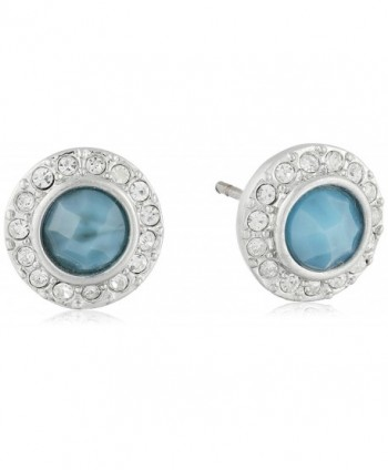 Karen Kane Ever bloom Eternity Stud Earrings - Silver Tone - CJ120SOUMBV