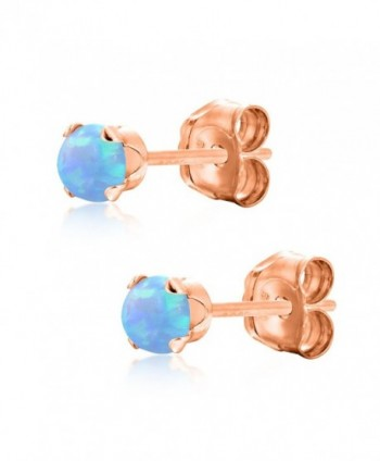 Round Baby Blue Simulated Earrings