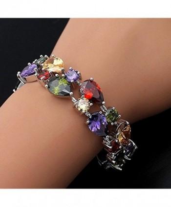 Sinlifu Silver Bracelet Multicolor Zirconia