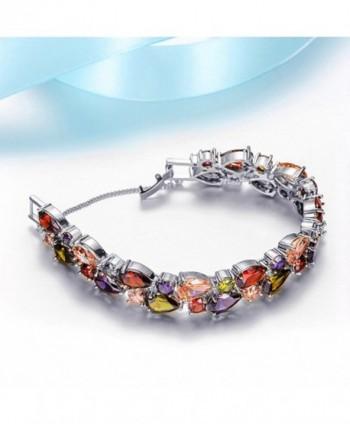 Sinlifu Silver Bracelet Multicolor Zirconia in Women's Link Bracelets