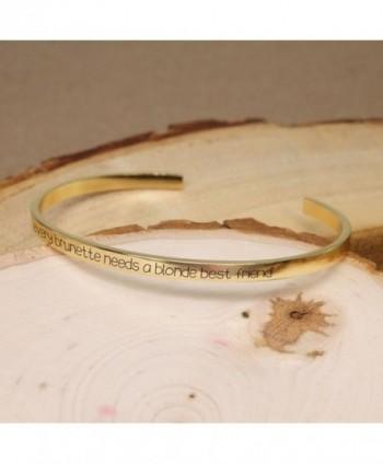 Personalized Monogram Customized inspirational BBR288 in Women's Bangle Bracelets