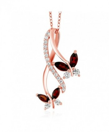 Marquise Butterfly Infinity Pendant Necklace - CX12NTKJJRP
