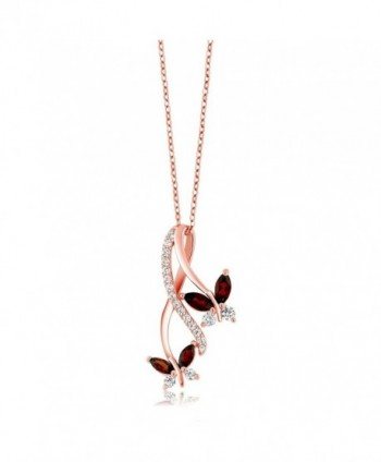 Marquise Butterfly Infinity Pendant Necklace