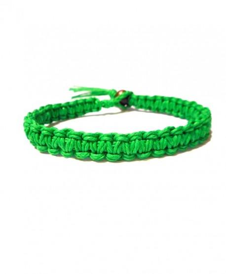 Green Surfer Hawaiian Style Stackable Hemp Bracelet - Handmade - CJ118SH491F