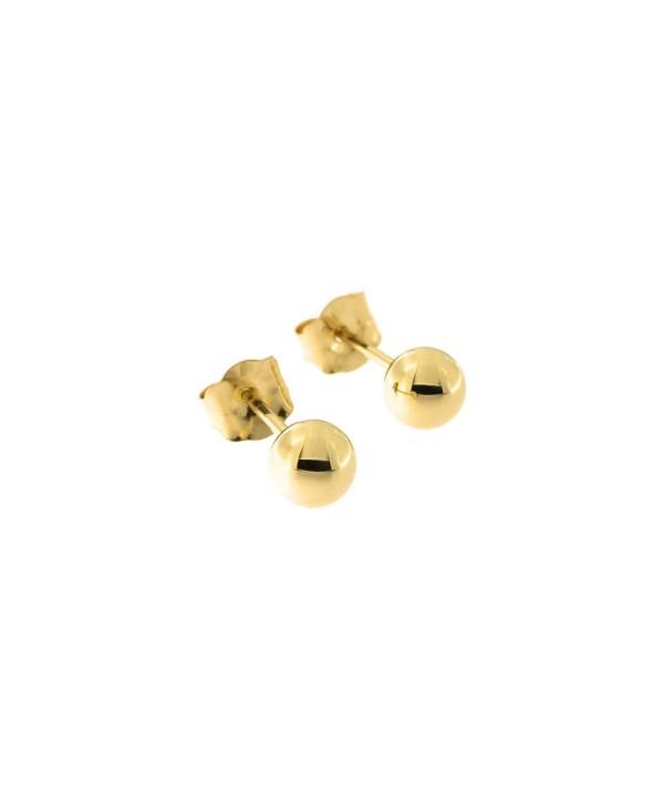 14k Yellow Gold Ball Stud Earrings- 4mm - CI11OBNQ3EL