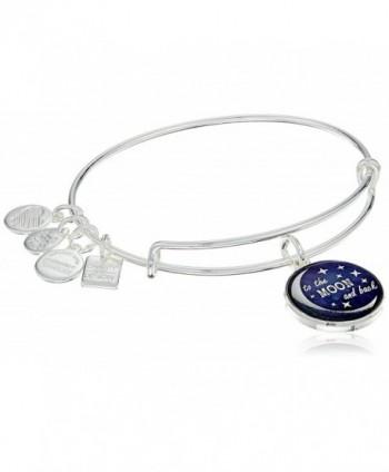 Alex Ani Charity Expandable Bracelet - Rafaelian Shiny Silver Finish - CS12IDNNTOV