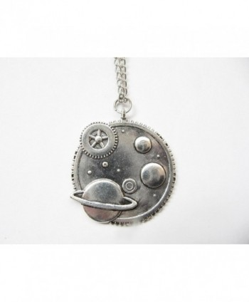 Galaxy Necklace Steampunk Pendant celestial