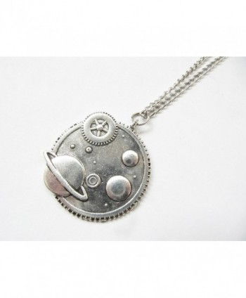 Galaxy Necklace Steampunk Pendant celestial in Women's Lockets