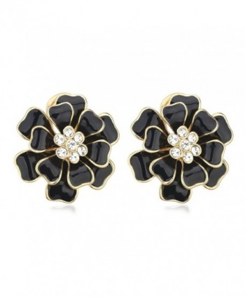 SWEETV Gold Plated Push back Earrings - C7185K8N85C