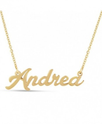 Personalized Name Necklace Pendant In Gold Tone- 100 Names Available For Immediate Purchase! - CW12OHXHI9O