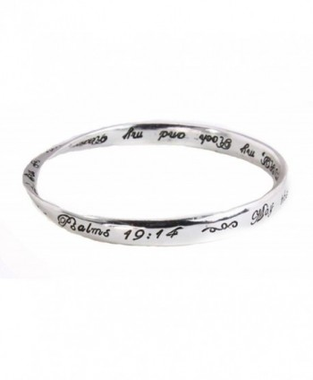 4030197 Psalm 19:14 Twisted Bangle Christian Scripture Religious Fashion Bracelet - CX119838SLF