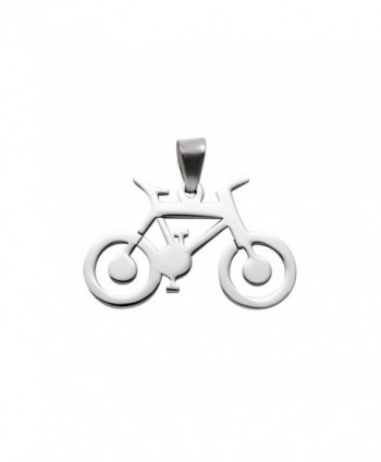 Large Stainless Steel Road Bike Pendant - CT11IB28ULH