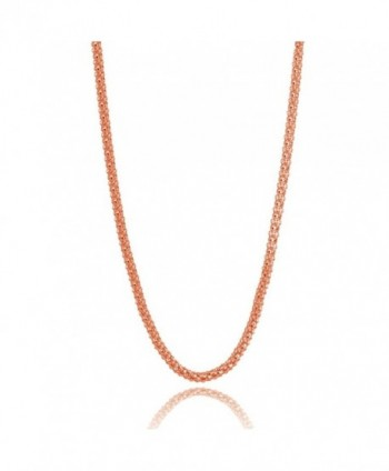 Sterling Silver 1.5mm Popcorn Chain Necklace- 20-30 Inches - rose-gold-flashed-silver - CE186EMRTT6