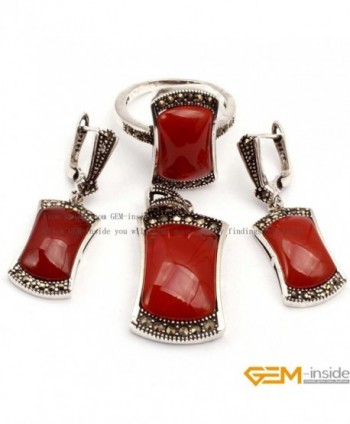 GEM inside Antiqued Tibeten Earrings Pendant in Women's Jewelry Sets