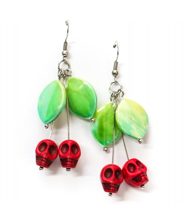 Red Skull Cherry Earrings - C3184EOCQYI