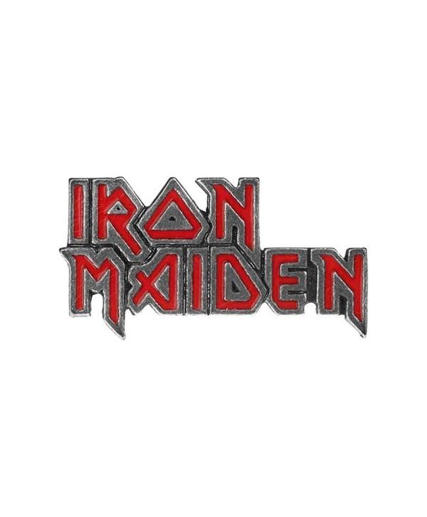 Alchemy Rocks Iron Maiden Logo Pin Badge (Red) - CS12O32HMFI