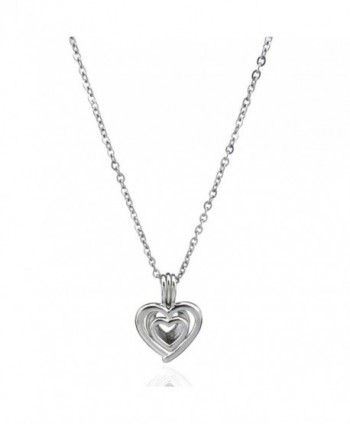 Heart Bead Cage- Heart Locket Necklace- Add Your Own Pearls- Stones- Rock to Cage - C1183WO55CE