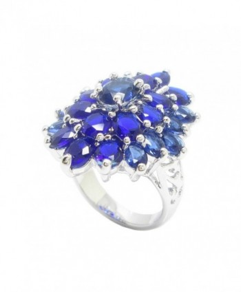 Luxury Design Color White Plating in Women's Statement Rings