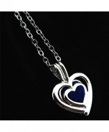 Heart Locket Necklace Pearls Stones