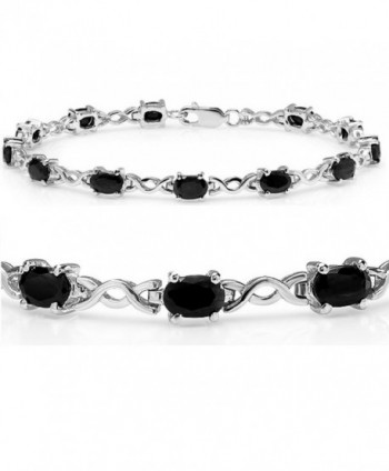 7ct tgw Sapphire Infinity Tennis Bracelet set in Sterling Silver ( 7 1/4 inches) - CI117979PYV