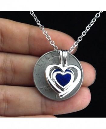 Heart Locket Necklace Pearls Stones in Women's Lockets